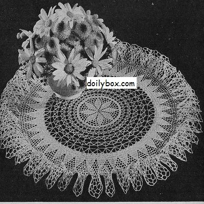Free Crochet Doily Pattern Starburst Ruffle | Thread crochet ...