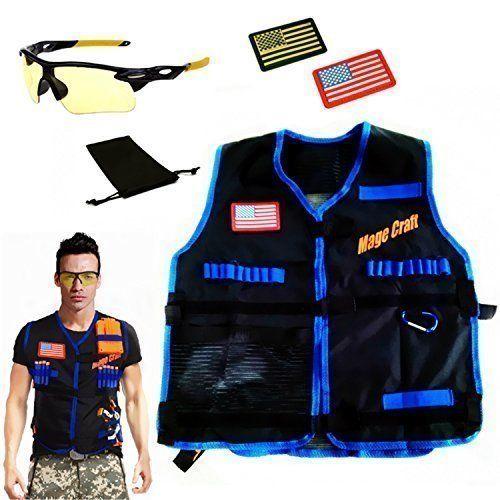 MageCraft Elite Tactical Vest Kit For Nerf N-strike Elite Series,Nerf Super  Soaker