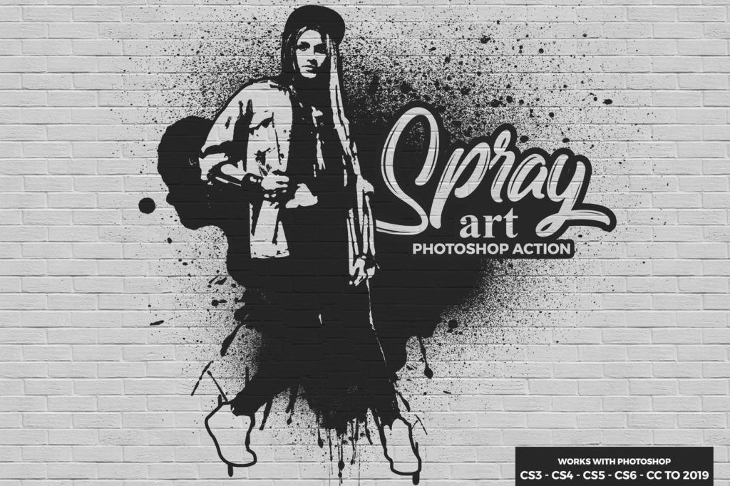 Spray Art Photoshop Action Free Download Photoshop Actions