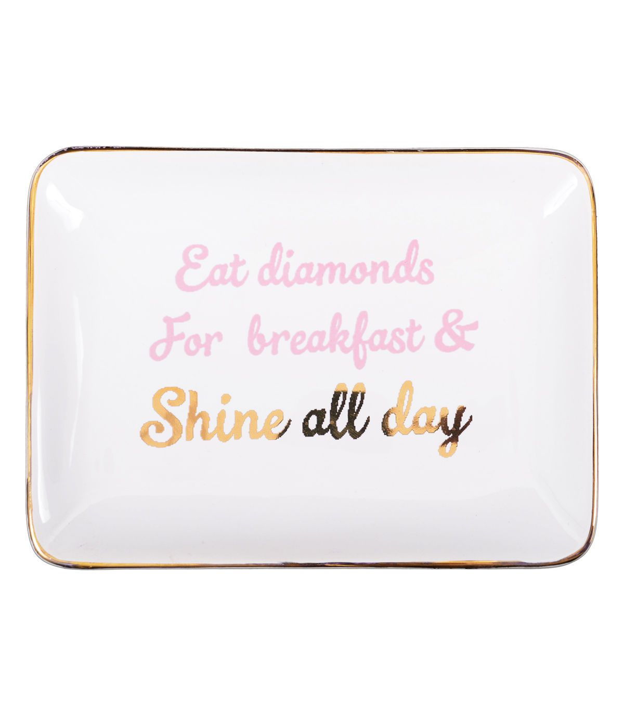 Jewelry Tray-Eat Diamonds for Breakfast