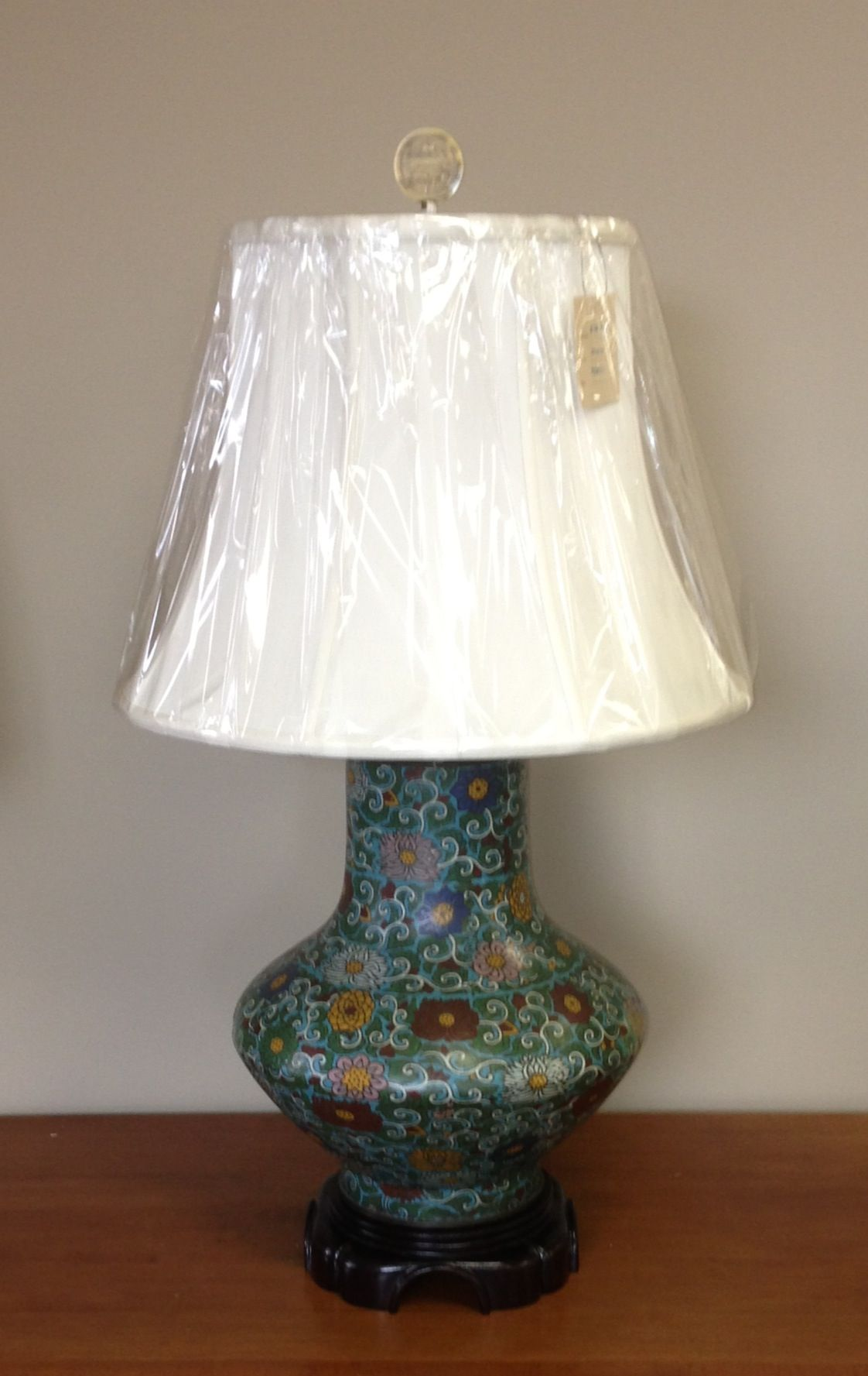 Cloisonne Vase Turned Into A Lamp Lamp Table Lamp Decor