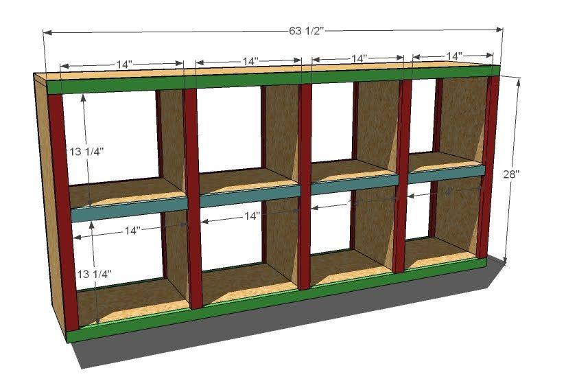 2x4 Console Cubby Shelves Diy Furniture Plans Cubby Shelves Cube Storage Shelves