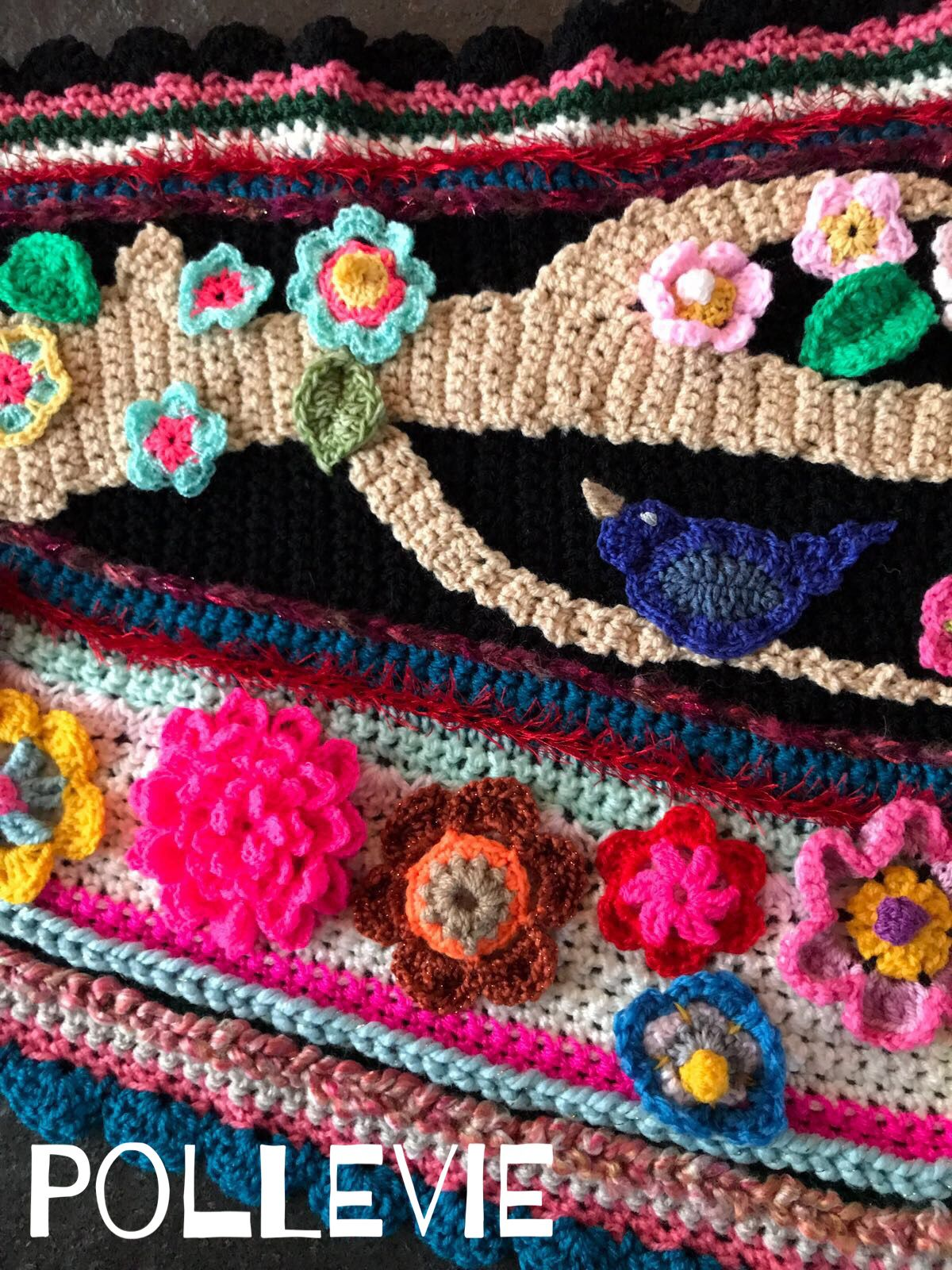 Www.crochetshawl.com Www.omslagdoekhaken.nl Pollevie | Omslagdoek ...