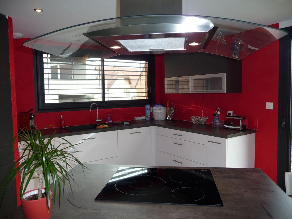 Notre Cuisine Repeinte En Rouge Maison D Architecte