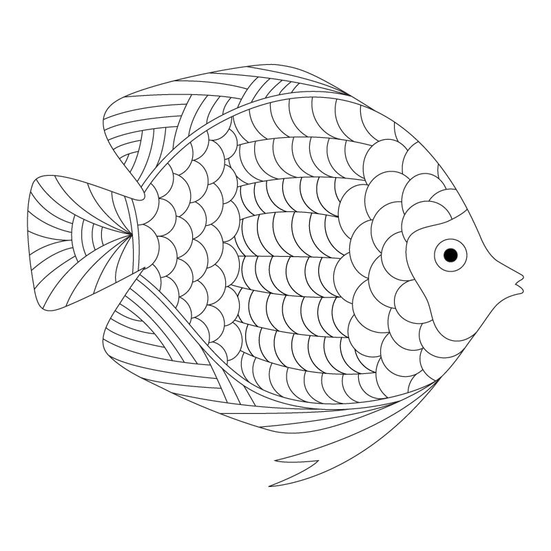 Freebies Coloring Pages Animal Coloring Pages Fish Coloring Page