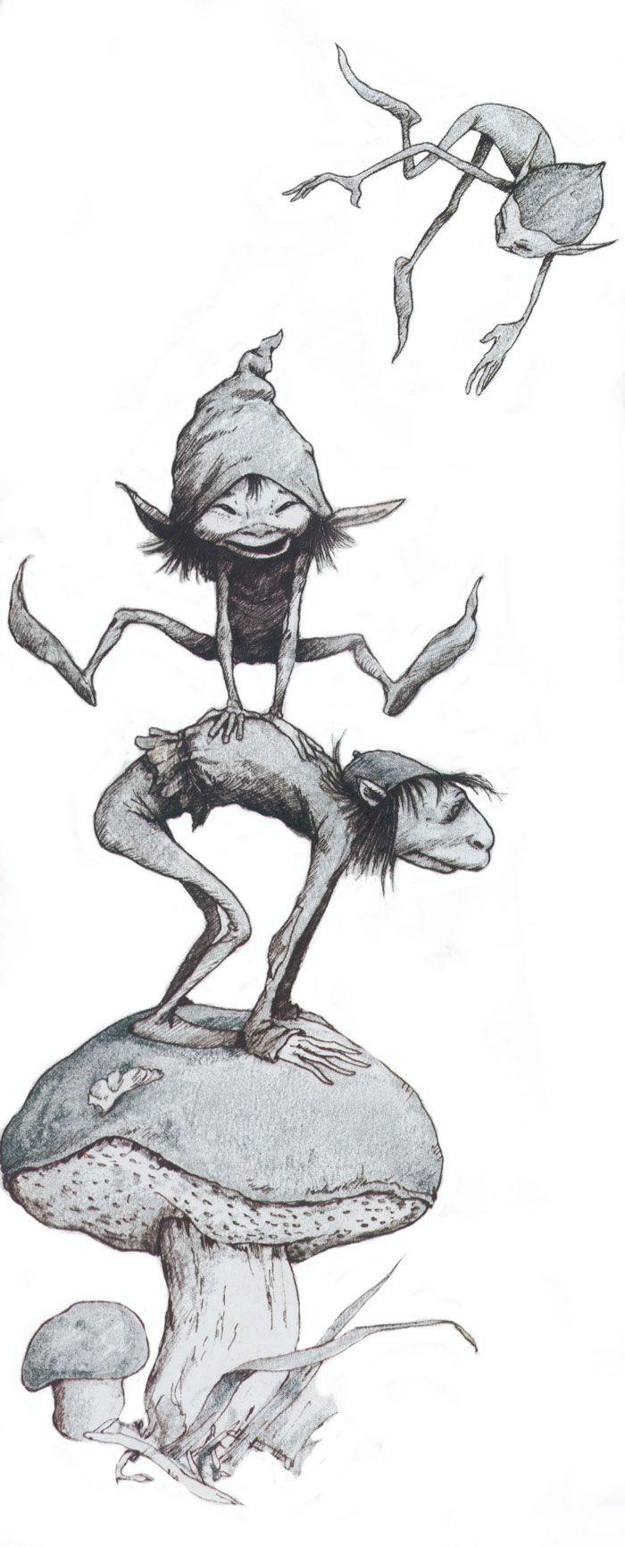 Elf And Pixies Having Fun Brian Froud Fairy Drawings Fairy Art