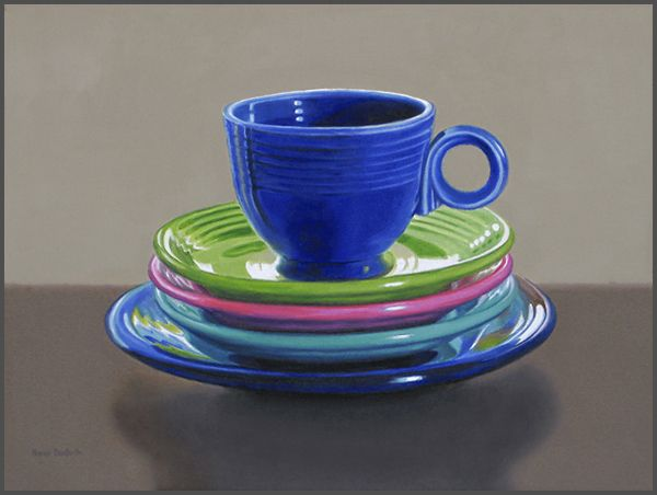 Fiesta Cup With Plates, sold, prints available