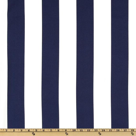 Ships Same Day Navy Blue And White Vertical Stripe Outdoor Fabric 2