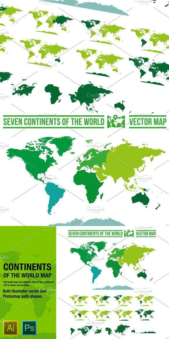 Continents vector world map pinterest gumiabroncs Gallery