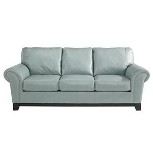 blue/grey leather sofa - ashley furniture x2 | Home | Couch ...
