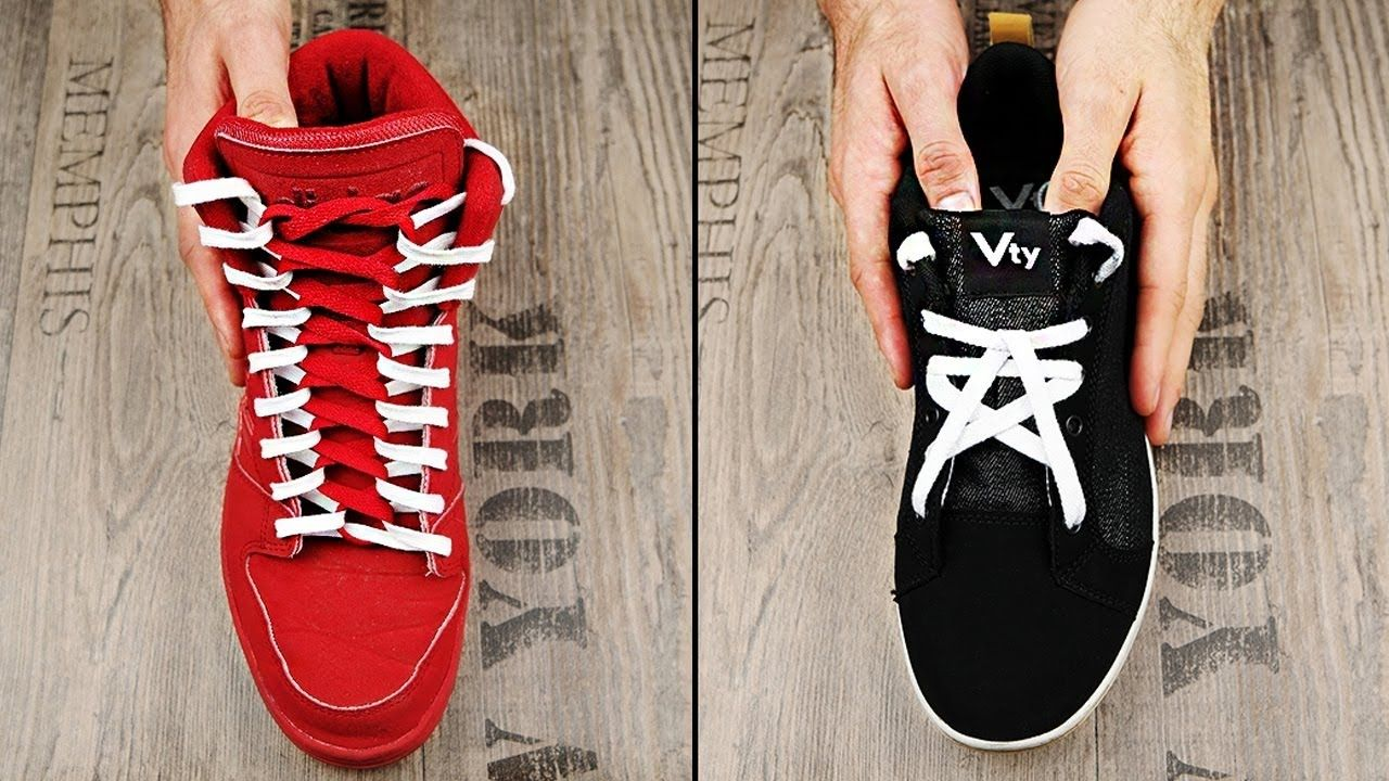 11 Cool Ways To Tie Shoelaces Ways to tie shoelaces, Tie