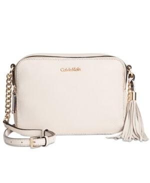 Calvin Klein Quilted Tassel Crossbody White White Crossbody Bag Calvin Klein Handbags Purses Crossbody