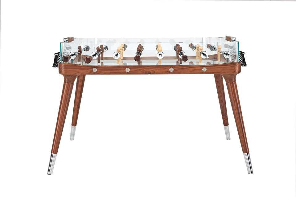 90 Minuto Foosball Table By Teckell In Walnut Foosball Table Card Game Table Foosball