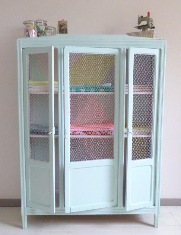 Restauración de muebles: Puertas de tela de gallinero | Dulce Hogar ...