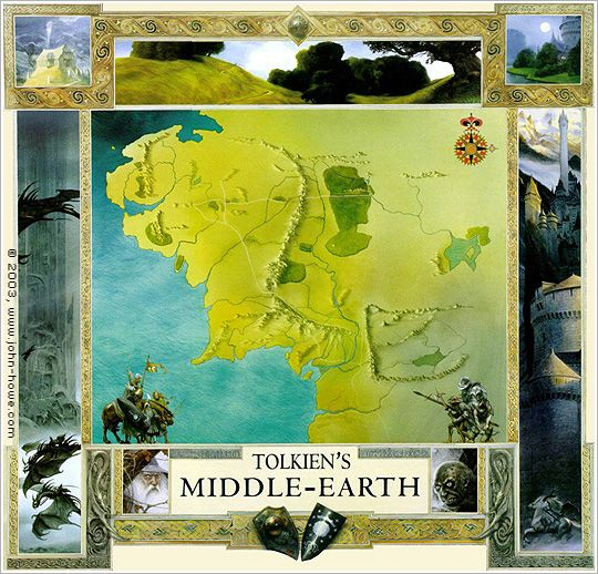 Map of Tolkien's Middle Earth