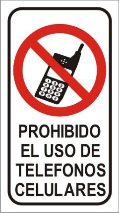 Prohibido uso celular se ales de prohibici n pinterest for De donde es el telefono