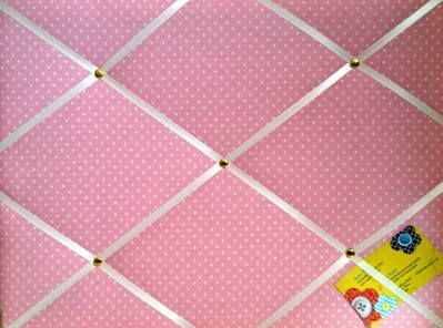 Medium Pink Polka Dot  Spot Hand Crafted Fabric Notice  Memory
