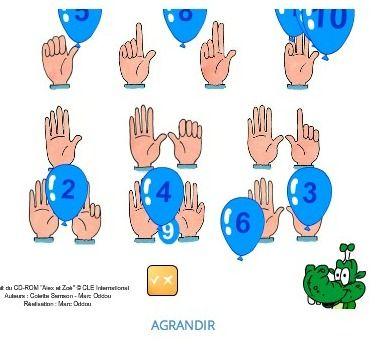 Les nombres de 1 à 10   MOddou FLE. Apprenez la prononciation des nombres de 1 à 10 en jouant.