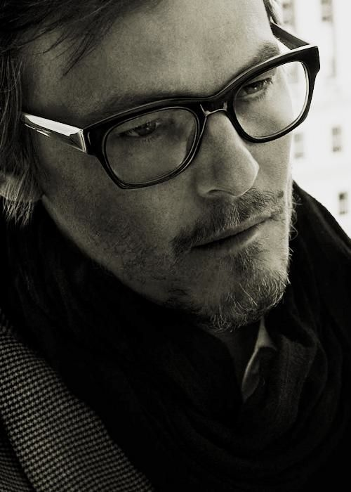 Norman Reedus. Love the glasses!