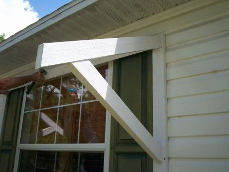 Diy Window Awning Wood Bracket Diy Awning Metal Awning