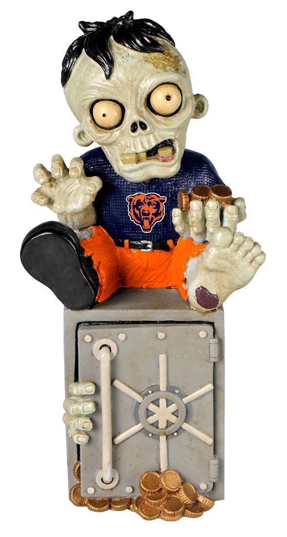 Chicago Bears Zombie Figurine Bank