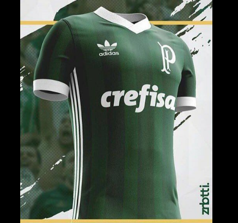 A Adidas deve oficializar nos próximos dias a nova camisa do Palmeiras para  a temporada 2017 2018 255dab1103abf