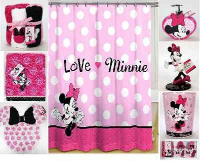 Disney Minnie Mouse Shower Curtain 9 Piece Bath Collection Minnie Mouse Bathroom Mickey Mouse Curtains Minnie Mouse Bedroom