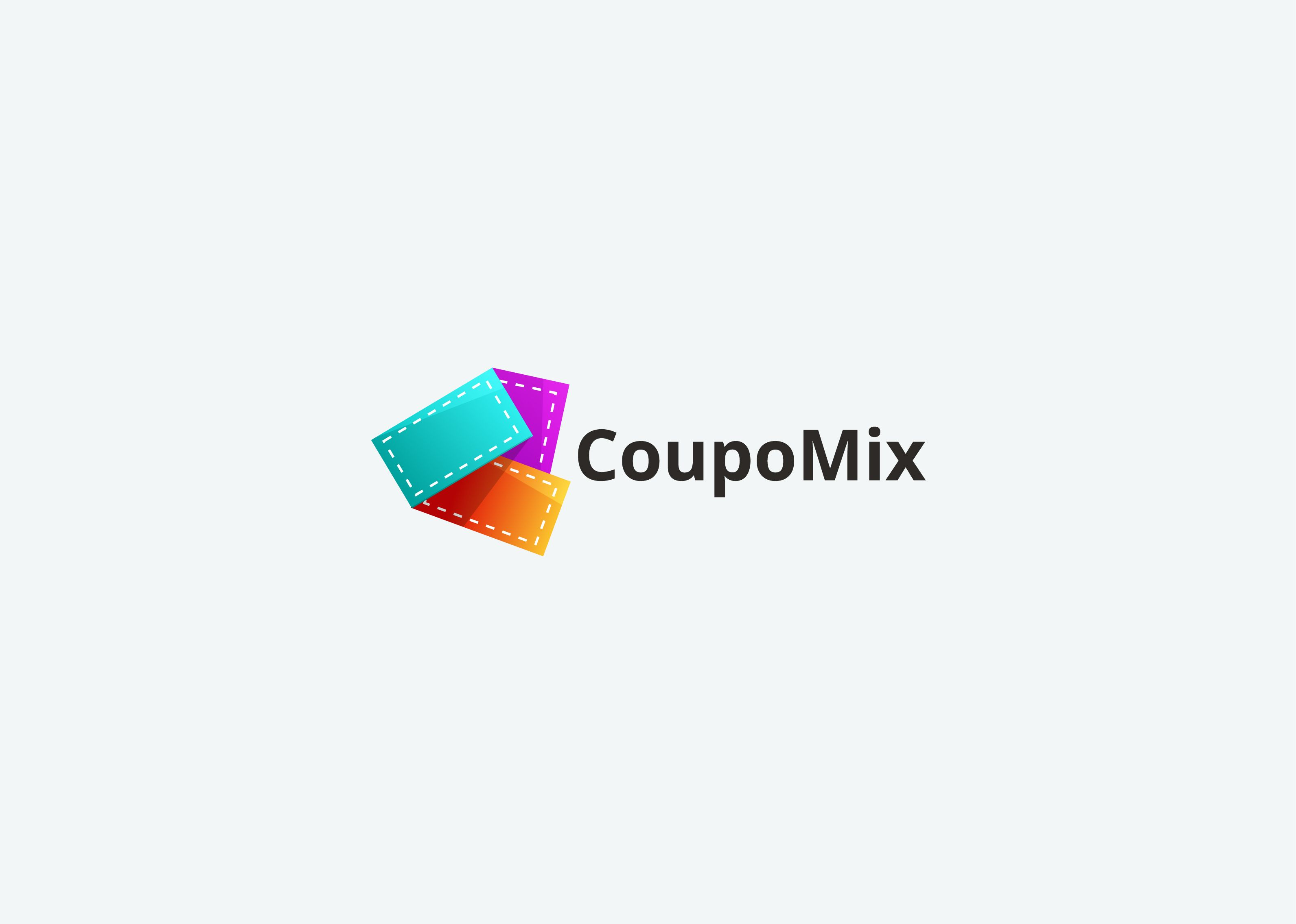 Coupomix Logo Design For Coupons Product Logo Design Marketing And Advertising Design