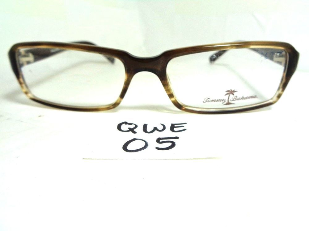 New TOMMY BAHAMA Eyeglasses Frame TB149 04/09 Cattail Brown Horn ...