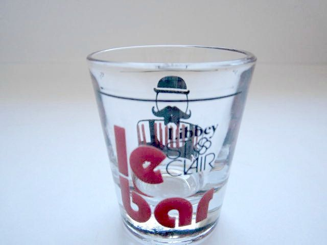 Shot Glass Mustache Moustache Barware Le Bar Libbey St Clair