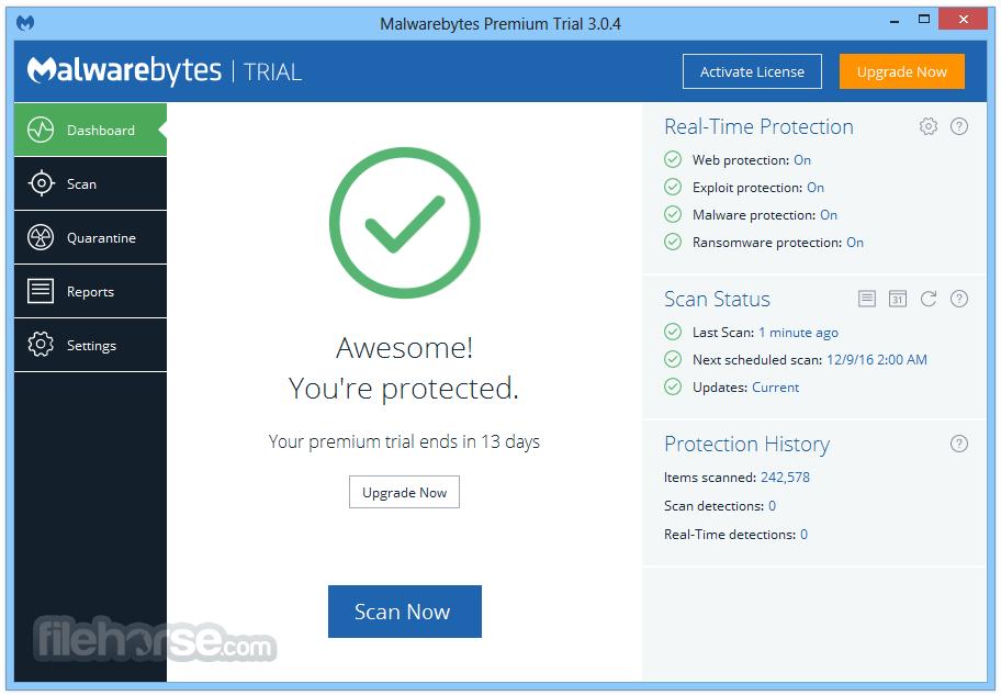 malwarebytes premium trial licence key
