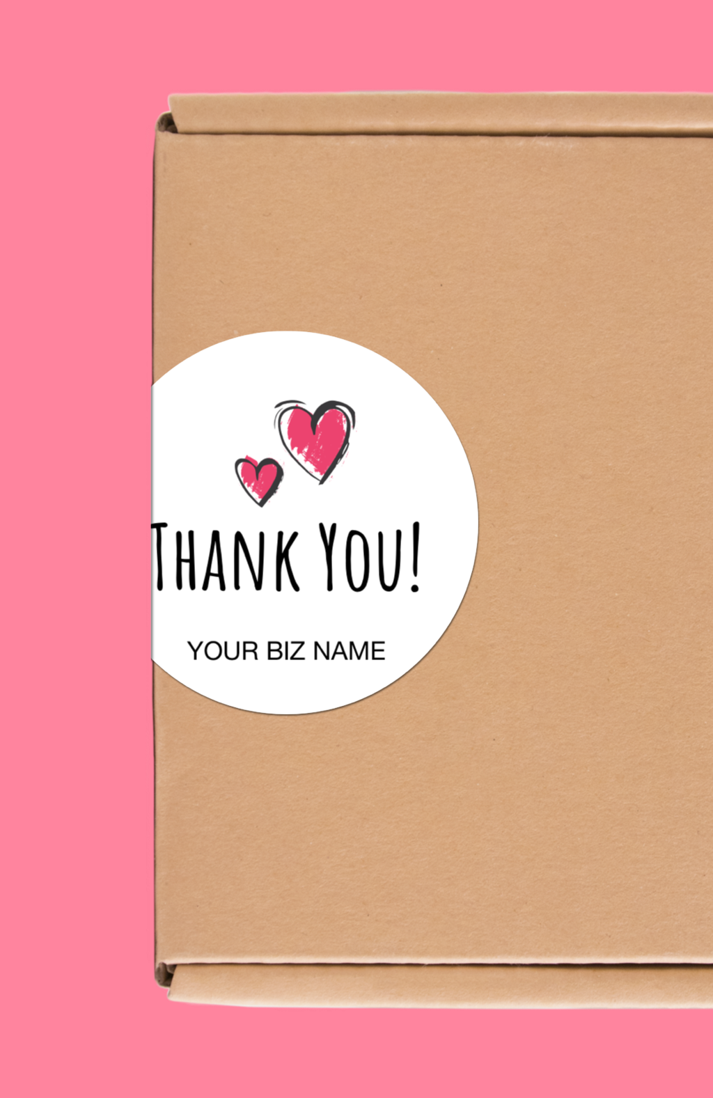 Set of 24 custom packaging labels 1 5 round stickers thank you