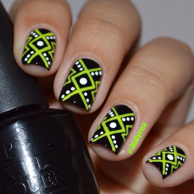 Beautiful photo nail art 31 gorgeous black and green nail art beautiful photo nail art 31 gorgeous black and green nail art designs prinsesfo Gallery