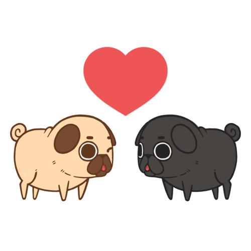 Made Puglies inspired by Maya (Puga-Chan) and Edgar (Allan Pug ...