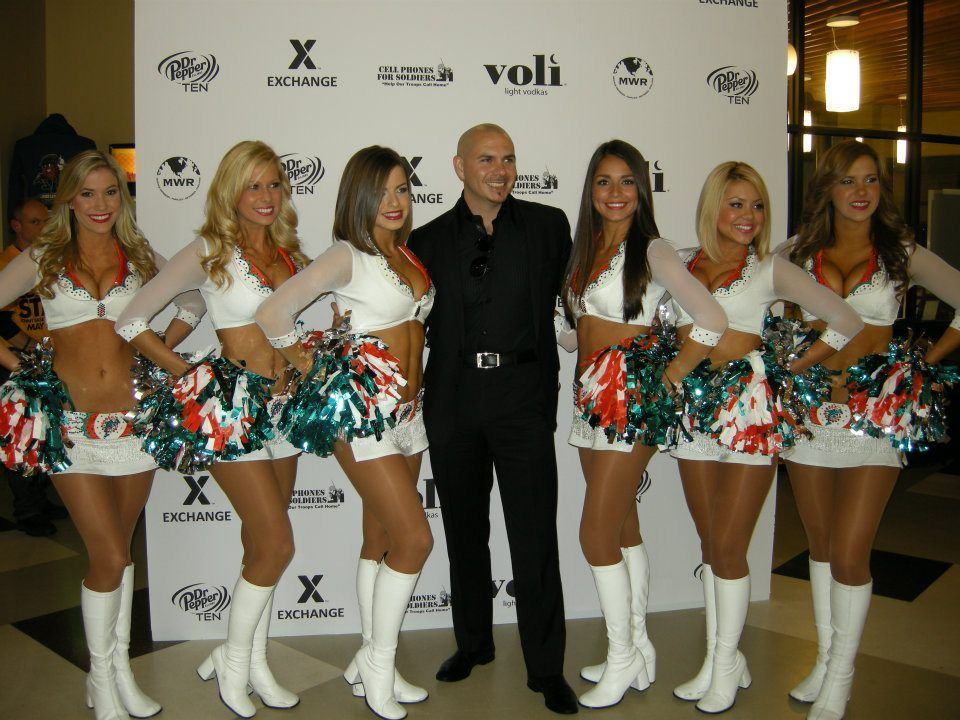 The miami dolphin cheerleaders helped pitbull and voli give back the miami dolphin cheerleaders helped pitbull and voli give back m4hsunfo