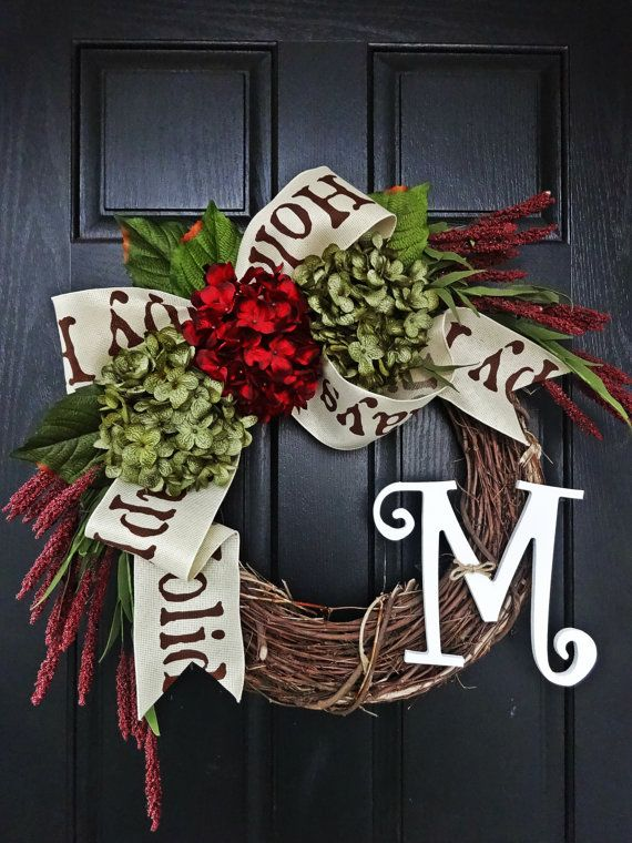 Decorating for christmas while on a budget bow wreath for Decorating with burlap ribbon for christmas
