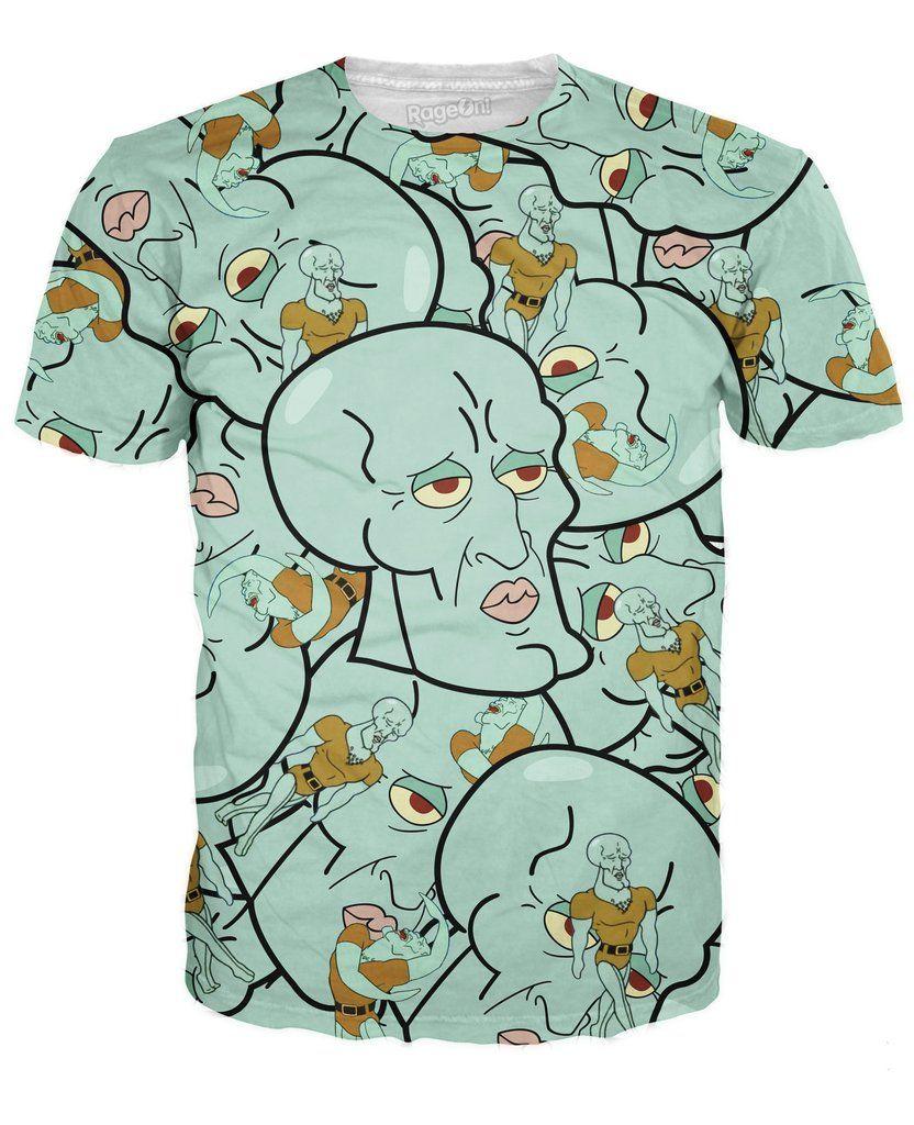 New Fashion Womens//Mens Anime Cute SpongeBob Funny 3D Print T-Shirt