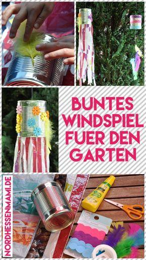 DIY: Buntes Windspiel für den Garten › nordhessenmami.de #gartenupcycling