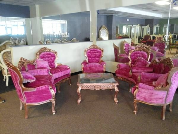 Just saw this amazingly gaudy furniture set for sale on Craigslist ...