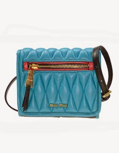 b4fc005ec2eeb Miu Miu Nappa Biker Bandoleer Bag in Blue Black Red Matelassé Leather Purse  Handbag RT0530 F0D8P