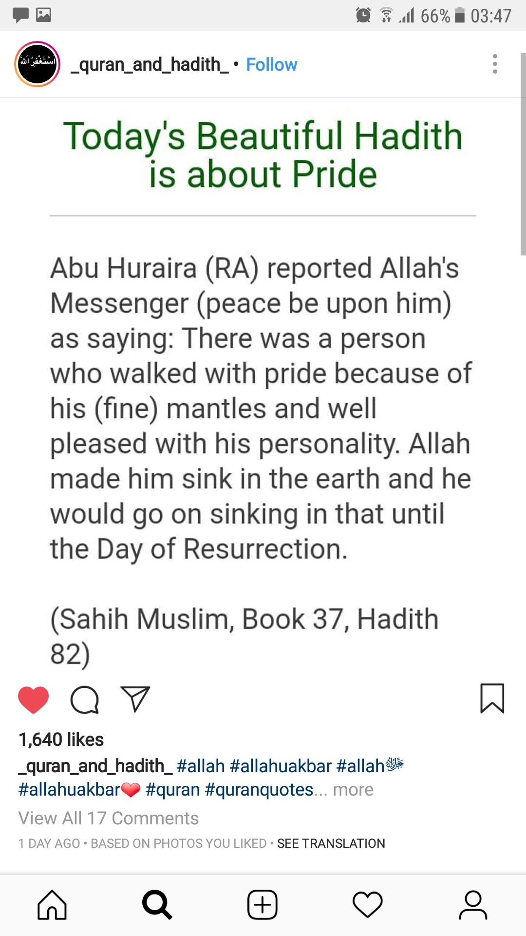 Stay Away From Pride Islamic Quotes Peace Be Upon Him Hadith
