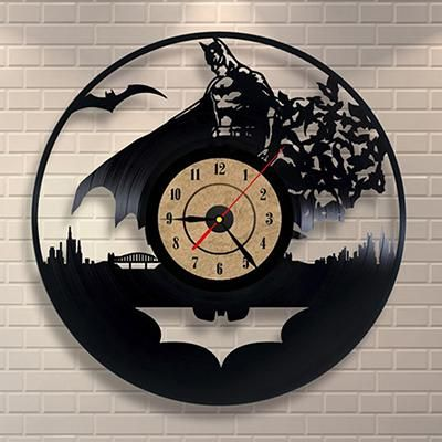 Black Classic Old Record Concept Wall Clock Antique Retro