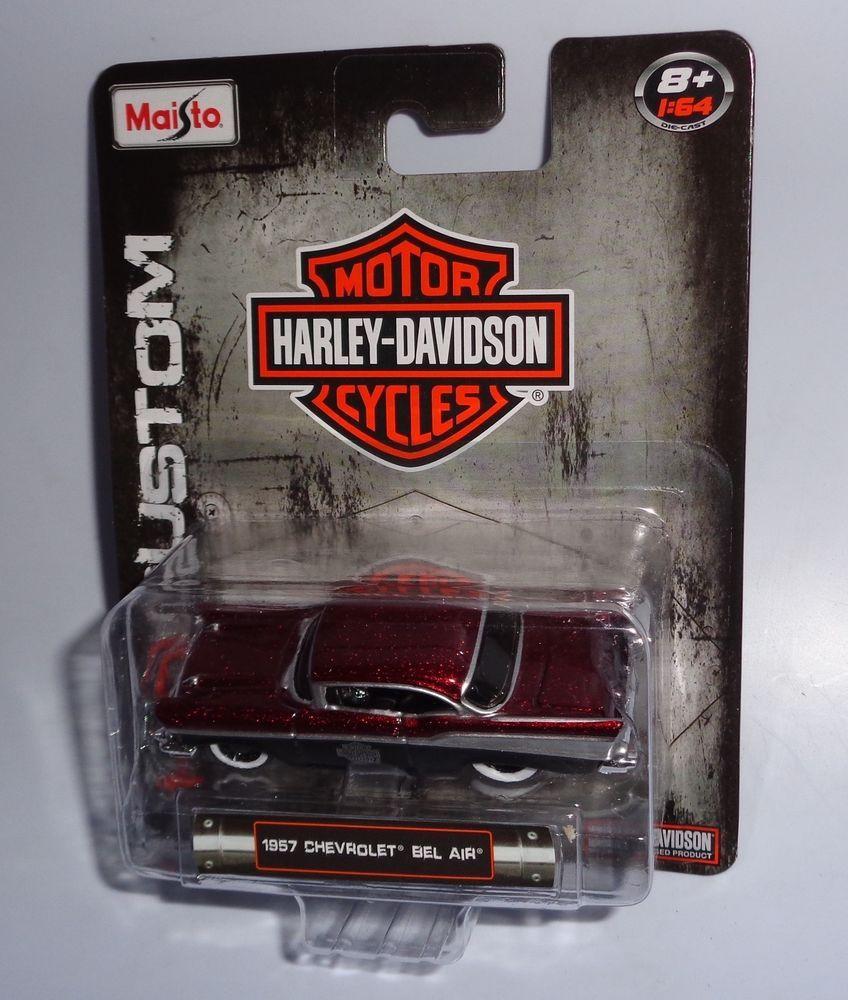 1 64 Maisto Harley Davidson 1957 Chevrolet Bel Air Dark Candy Red Maisto Chevrolet Harley Davidson Bikes Harley Davidson Birthday Harley Davidson