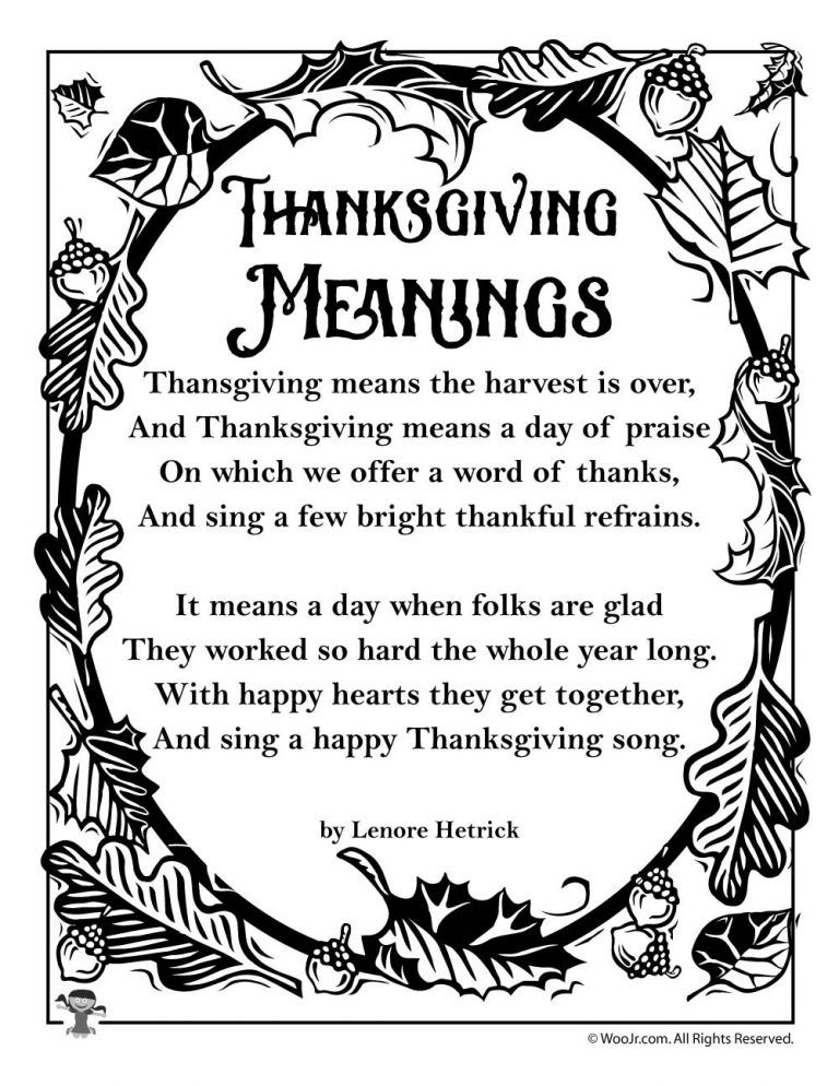 Thanksgiving Kids Poems