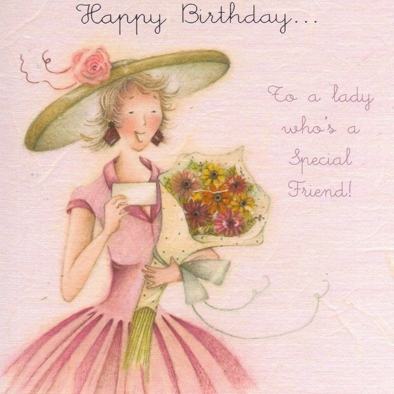 Happy Birthday To A Lady Who's A Special Friend Card £2