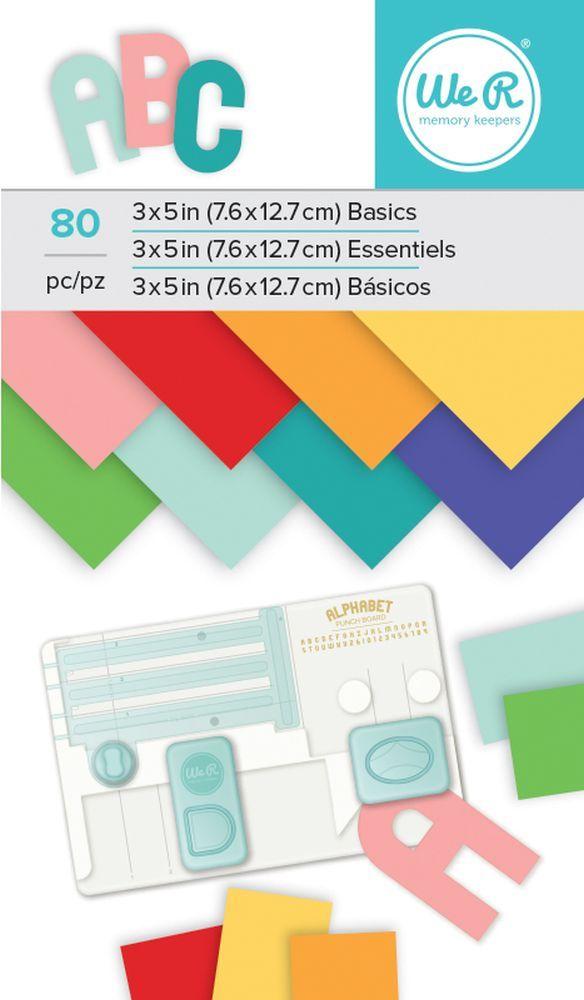 We R Memory Keepers Alphabet Punch Board Paper Pad - Multi Color | FotoBella.com