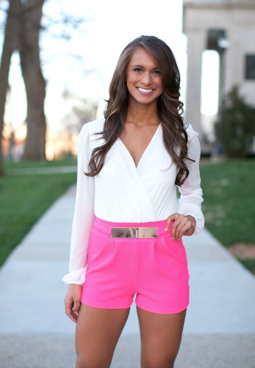 The Pink Lily Boutique - Better Than A Dream Neon Pink Romper ...