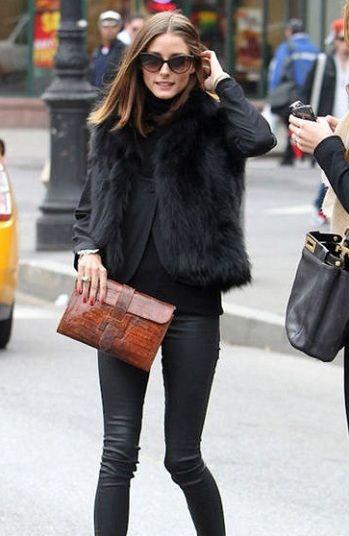 41296d031a9e Olivia Palermo + Fur Vest