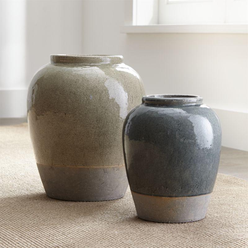 Decorative Urns Vases Magnificent Lustrous Crackled Glaze Coats This Simple Urn Vase In Soft Sage Design Decoration
