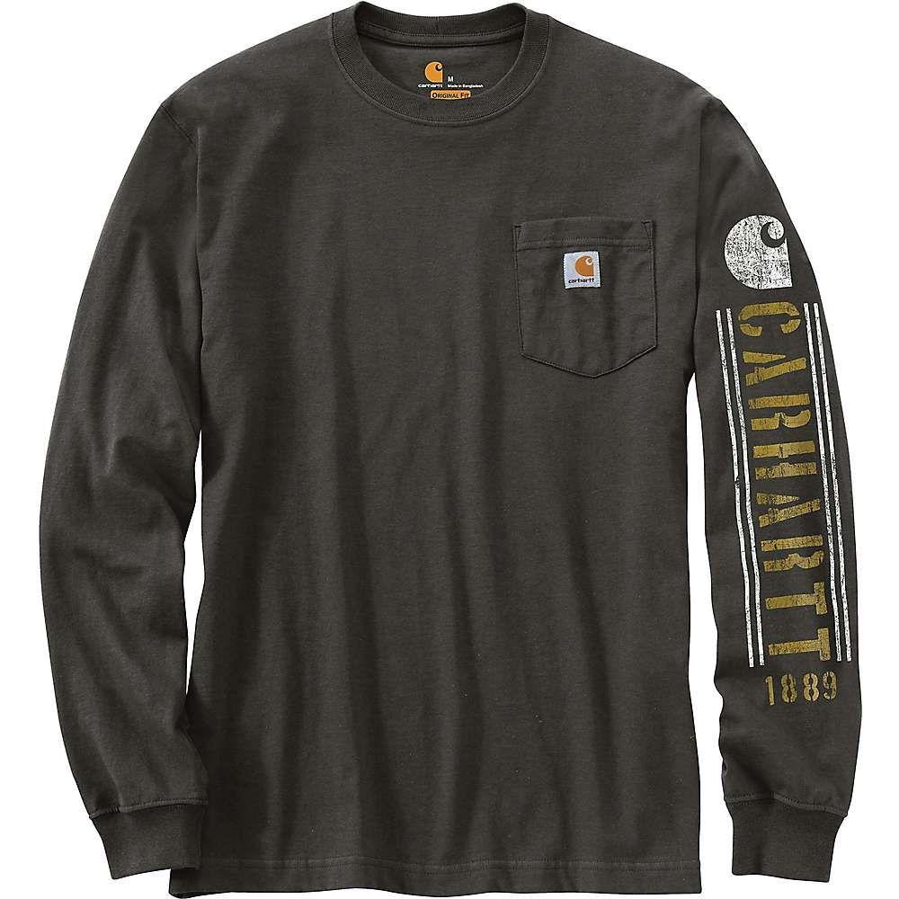 Carhartt Men S Original Fit Heavyweight Ls Pocket Logo Graphic T Shirt Xl Regular Peat In 2021 Long Sleeve Tshirt Men Mens Workwear Latest Clothes For Men